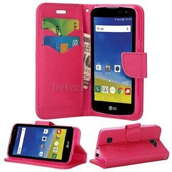 Quality LG K4 Luxury Wallet Phone Leather Case Cover With Magic Magnet For LG Series for sale