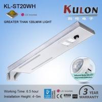 Outdoor garden road 20W integrated solar led street light Manufactures