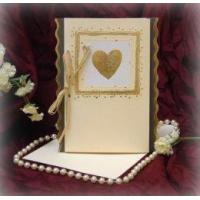 Buy cheap Gold Heart Frilled Invite Product Code: SSC5124G from wholesalers