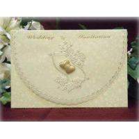 Buy cheap Cream Paisley Envelope Invite with Gold Heart Detail Product Code: SSCJ281D from wholesalers