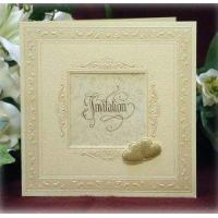 Buy cheap Cream Bordered Card with Gold Heart Detail Product Code: SSCJ273 from wholesalers