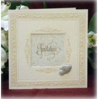 Buy cheap Cream Bordered Card with Silver Heart Detail Product Code: SSCJ272 from wholesalers