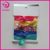 China Girls Hair Band Printing Knotted Custom Elastic Fabric Hair Tie wholesale