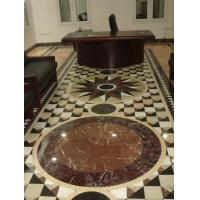 Design Waterjet White/Cream/Brown Stone Marble Sandstone Pattern Medallion For Floor Decoration Manufactures