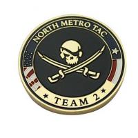 China Personalised North Metro TAC Coins Engraved State and Marine Corps Challenge Coins MC-017 on sale