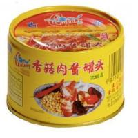 China Canned Mushrooms Pork Mince With Bean Paste - GuLong 48x180g on sale
