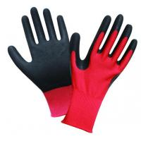L2003 13G Red Polyester Shell,Black Latex Sandy Palm Coated Water Proof Gloves Manufactures