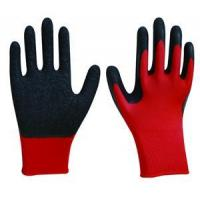 L1601 13G Red Polyester/Nylon(polyamid), Black Crinkle Latex Safety Gloves(Construction Gloves) Manufactures
