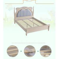 Upholstred Bed with Nightshands Wood Base Slats Platform Manufactures