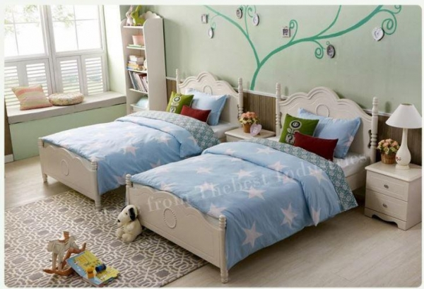 Quality Queen Full King Size White Platform Base Bed in White Color Finished for sale