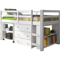 Shower Enclosure Kids Bed Captain Loft Bed with Storage Bookcase Fuction Desk Bookshelves Manufactures