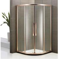 Buy cheap Round Fully Framed Tempered Clarity Glass Easy Clean Quadrant Sliding Door Shower Enclosure from wholesalers