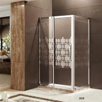 Framed Sliding Frosted and Pattern Glass Shower Door Manufactures