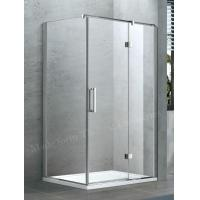 Swing Hinged Semi Frameless Shower Door Glass in Frosted Hammer Glass