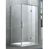 Framed Shower Door with Suqare Handle Chrome Finished Obscure Glass Optionas Manufactures