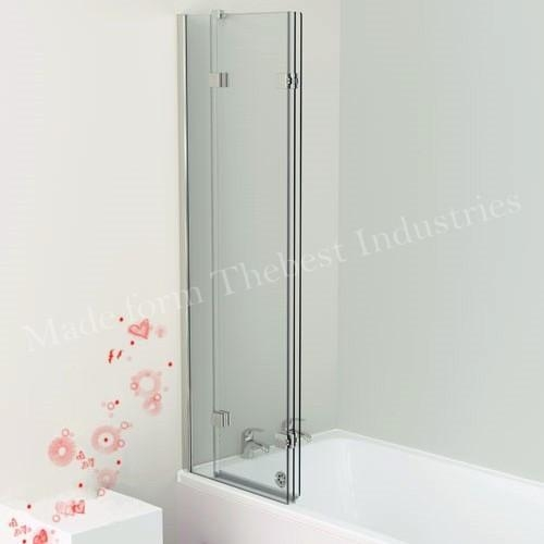 Quality Swing Folding Bath Tub Door for Glass Shower Screen for in Bath Frosted or Clear Glasss for sale