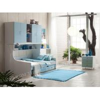 Bunk Bed with Trundle Design in White Fisnihed Manufactures