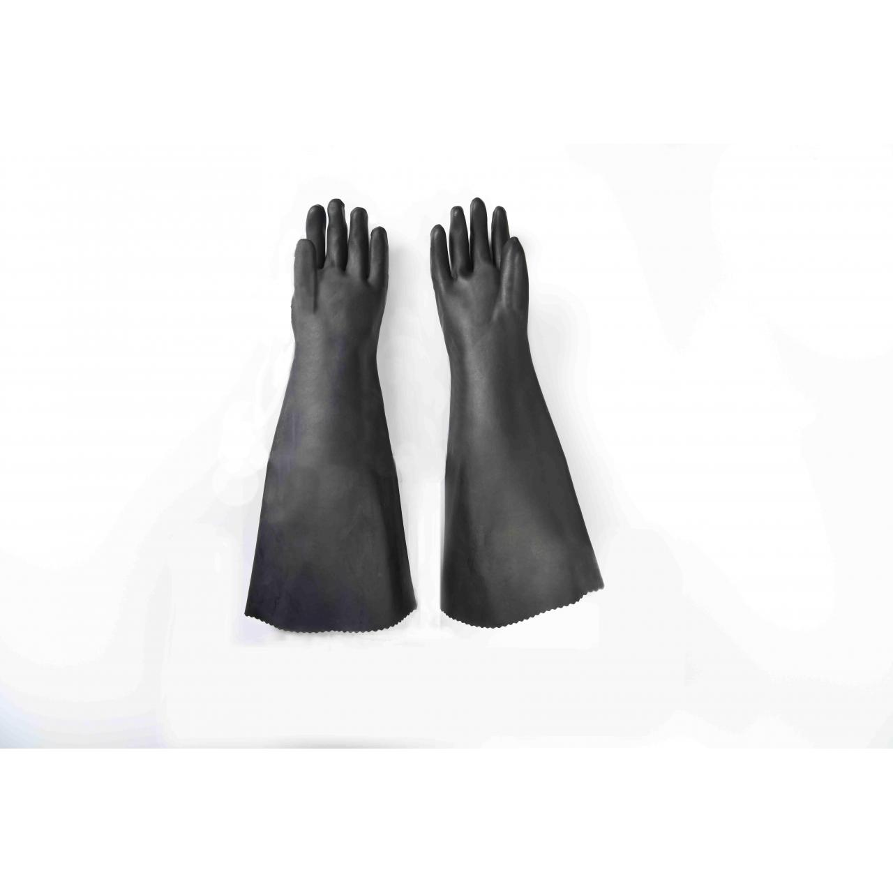 Industrial rubber gloves 24 rubber glove with cotton linning-smooth finish Manufactures