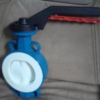 Buy cheap Full PTFE coated butterfly valve from wholesalers