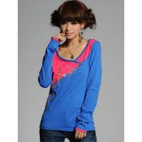 Multicolored Woman's T-shirt with patchwork design