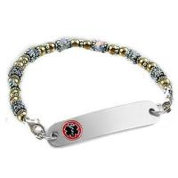 Item# SG04 - Ladies Cherished Love Two-Tone WITH Medical ID Tag Manufactures