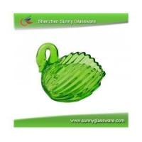Quality Color spray swan shape Candlestick for sale