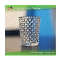transparent handmade glass candle holder Manufactures
