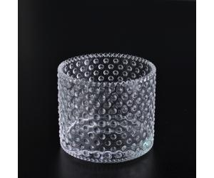 China clear glass candle container