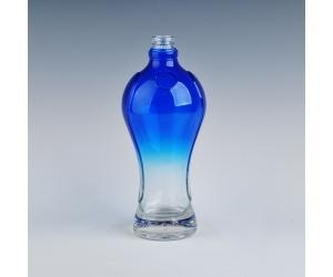 China Exterior color spray glass wine bottle