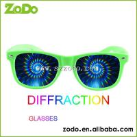 China spiral diffraction glasses zodo-3001 green spiral diffraction wholesale
