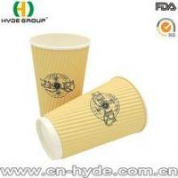 Light colour printing ripple wall paper coffee cups with lid Manufactures