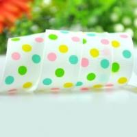 100 yards 1 inch swiss dots printed ribbon Manufactures