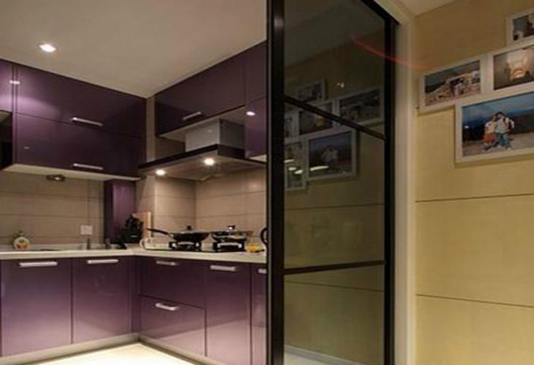 Residential sliding tempered glass walls for kitchen for for Sliding walls residential