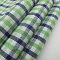 100% Cotton Slub Check Fabric For Shirts Manufactures