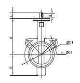 Quality Concentric PTFE seat butterfly valve for sale
