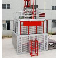 Buy cheap 2040/60S New Design Double Cage Building Lift for Construction from wholesalers
