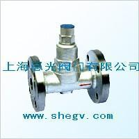 Adjustable pair of metal and a stretch of temperature adjusting type steam dredge water valve