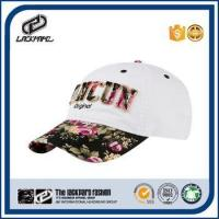 Fashionable flora visor curve brim hat women with flora cloth patch Manufactures