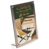 8.5 x 11 Acrylic Sign Holder with Standoff Hardware, Slant Back - Gray Manufactures
