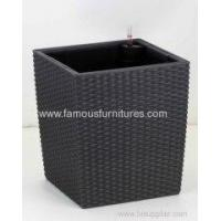 Buy cheap square imitation rattan flower pot from wholesalers