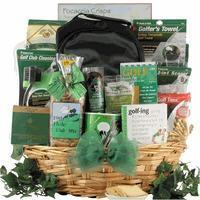Christmas Decor Deluxe Golfer: Gourmet Golf Gift Basket Manufactures