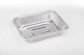 China Rectangle Silver Aluminum Roasting Pan With Lid For Food Baking