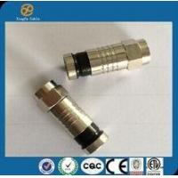 china hot sell high quality RG6 Coaxial Cable Connector Waterproof Coaxial Cable(metal) Manufactures