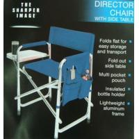 China Aluminue Folding Director Chair w Side Table 01-8747 on sale