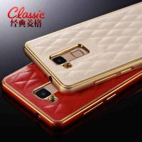 Cellphone Accessories Huawei Mate7 metal frame real leather phone case Manufactures