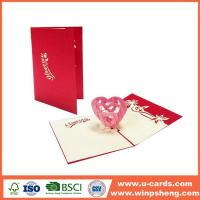 China Different Types 3d Heart Pop Up Valentines Card Template Free on sale
