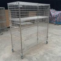 304 Stainless Steel Security Cage Cart Manufactures