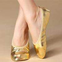 Professional Comfortable Belly Dance Practice Shoes,Women Belly Dance Gold Shoes Manufactures