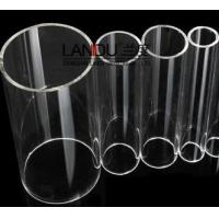 Buy cheap High quality clear color different size acrylic round tubes acrylic round pipes from wholesalers