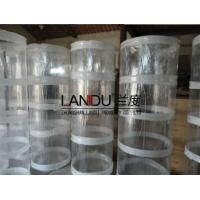 Buy cheap High quality transparent different size acrylic round tubes acrylic round pipes from wholesalers